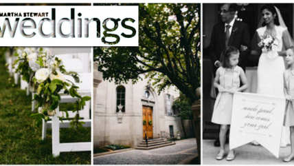 Liz & Paul Featured in Martha Stewart Weddings