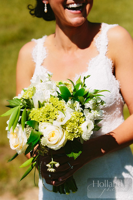 Bride's bouquet at L&R's Steamboat Springs wedding