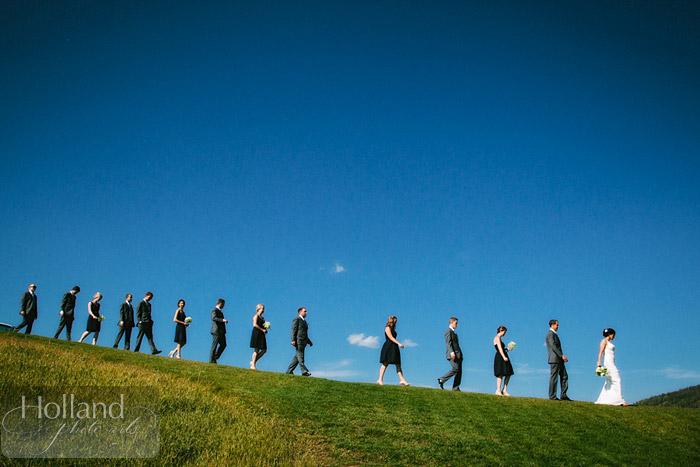 Wedding party portraits at L&R's Steamboat Springs wedding