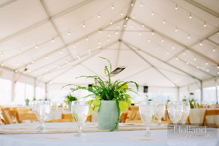 Table decor at L&R's Steamboat Springs wedding