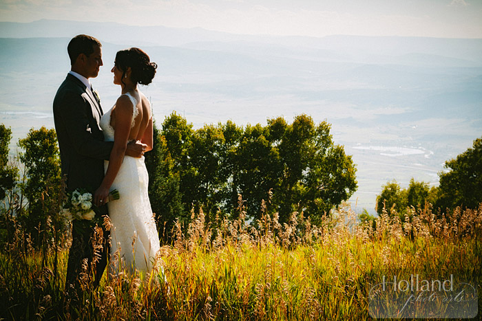 Bride and groom portraits at L&R's Steamboat Springs wedding