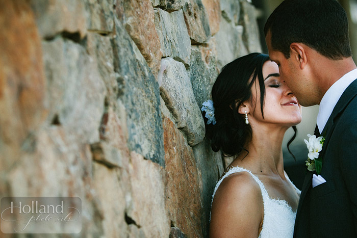 Bride and groom portrait at L&R's Steamboat Springs wedding