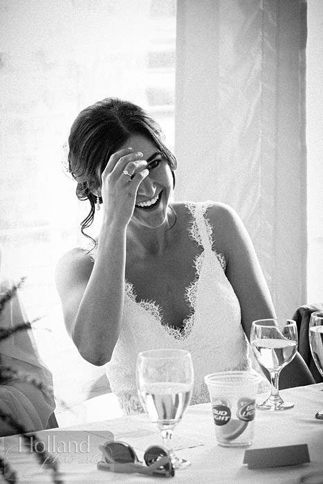 Laughter at L&R's Steamboat Springs wedding