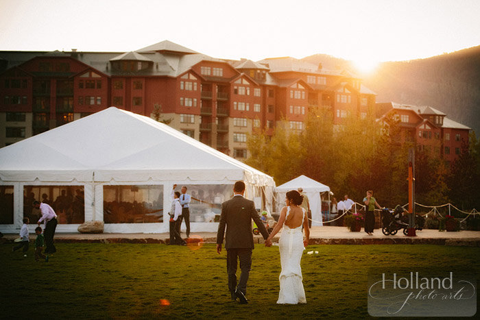 Sunset at L&R's Steamboat Springs wedding