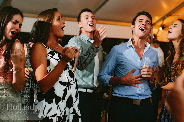 Singing at L&R's Steamboat Springs wedding