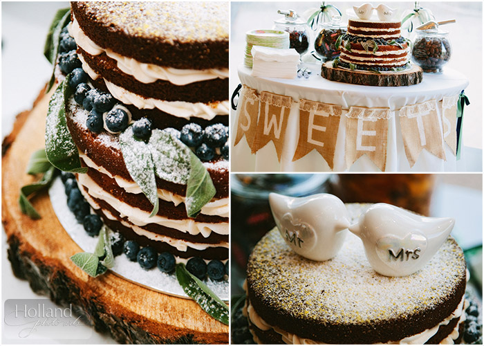 Cake at L&R's Steamboat Springs wedding