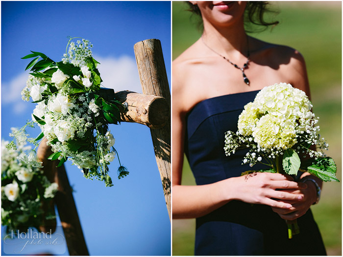 Flower details at L&R's Steamboat Springs wedding