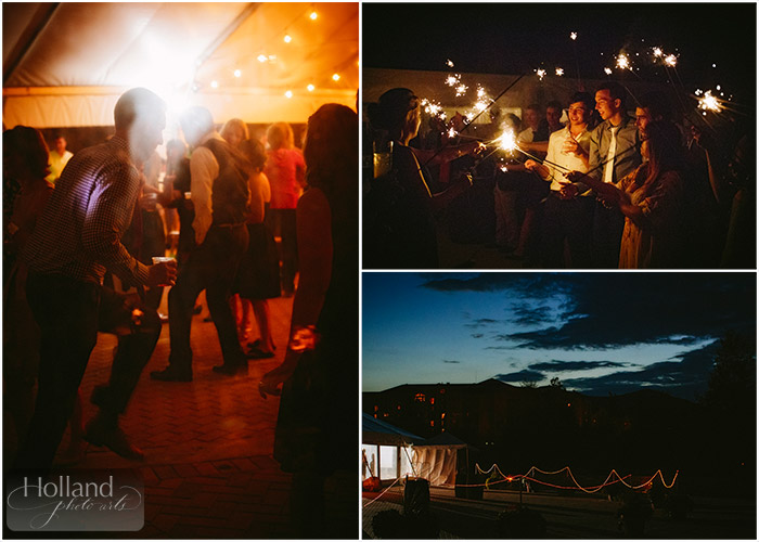 Sunset & dancing at L&R's wedding at Steamboat Springs