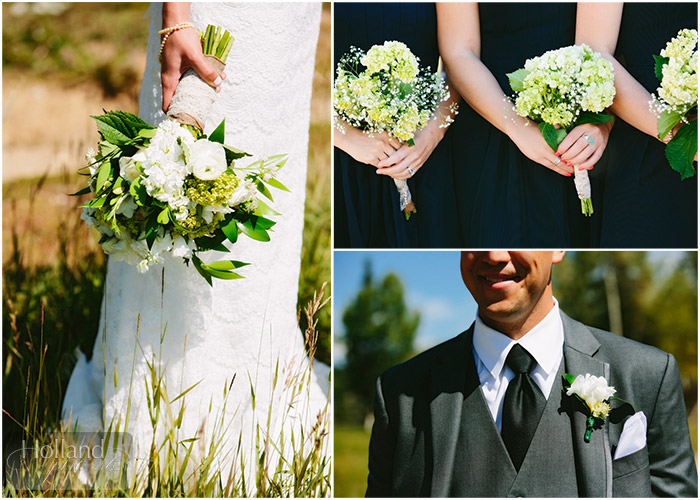 Bouquets at L&R's Steamboat Springs wedding