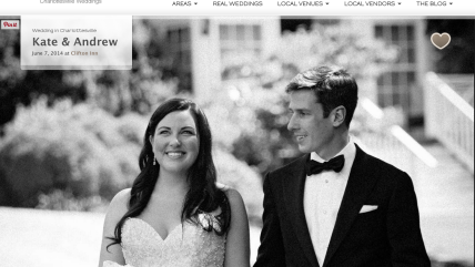 Kate and Andrew's Clifton Inn Wedding Featured on Borrowed and Blue Blog!