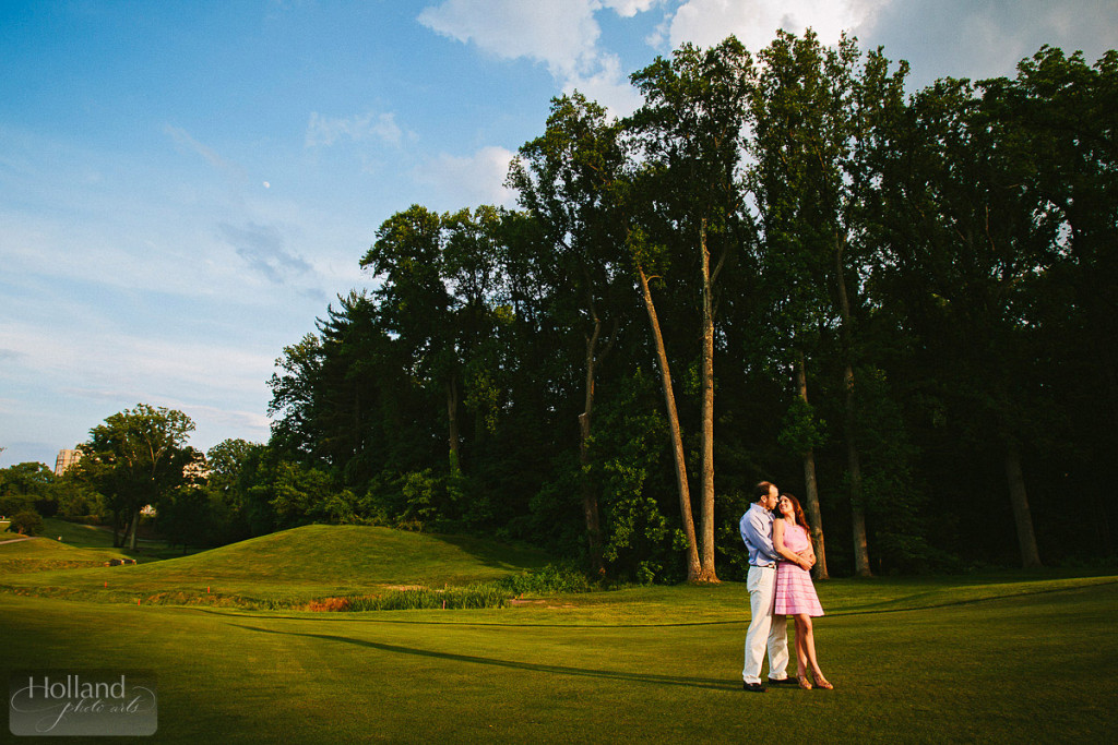 Engagement portraits at Columbia Country Club