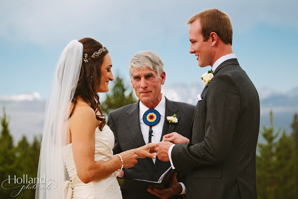 Mark Udall performs Rocky mountain wedding ceremony